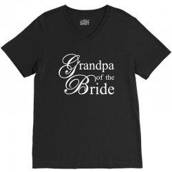 Grandpa of the bride V-Neck Tee | Artistshot