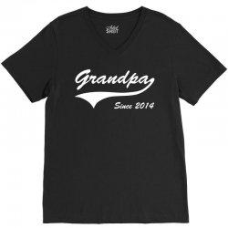 Grandpa since 2014 V-Neck Tee | Artistshot