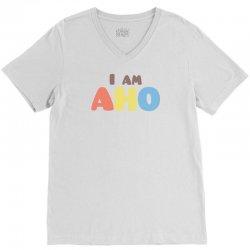 Yuru Yuri: I am AHO V-Neck Tee | Artistshot