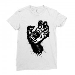 screaming hand werewolf Ladies Fitted T-Shirt | Artistshot