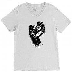 screaming hand werewolf V-Neck Tee | Artistshot