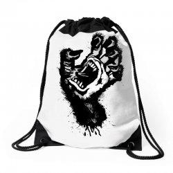 screaming hand werewolf Drawstring Bags | Artistshot