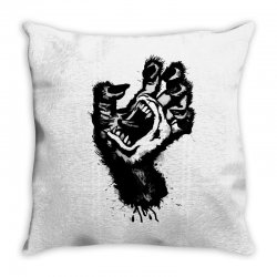 screaming hand werewolf Throw Pillow | Artistshot