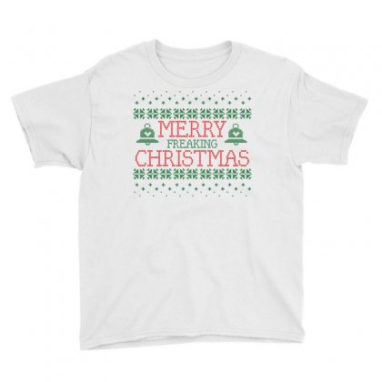 Merry Freaking Christmas Youth Tee Designed By Tshiart