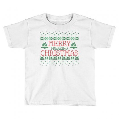Merry Freaking Christmas Toddler T-shirt Designed By Tshiart