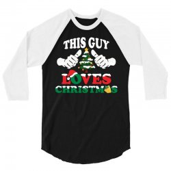 This Girl Loves Christmas 3/4 Sleeve Shirt | Artistshot