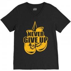 Never Give Up Appendix Cancer Awareness V-Neck Tee | Artistshot