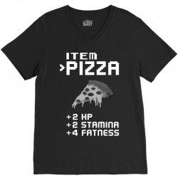 Facts Of Pizza V-Neck Tee | Artistshot