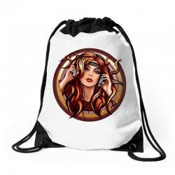 music girl Drawstring Bags | Artistshot