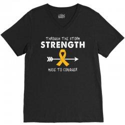 Through The Storm Strength Made To Conquer V-Neck Tee | Artistshot
