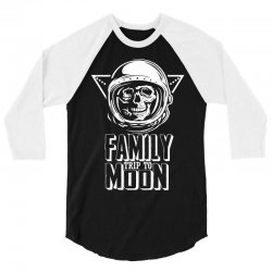 Family Trip To Moon 3/4 Sleeve Shirt | Artistshot