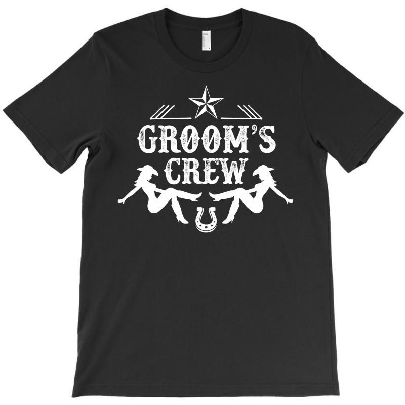 Old West Bachelor Party - Groom's Crew Version T-shirt | Artistshot