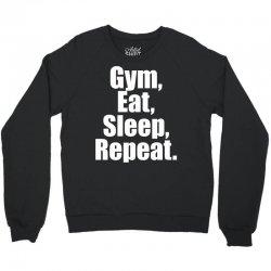 Eat Sleep Gym Repeat Crewneck Sweatshirt | Artistshot