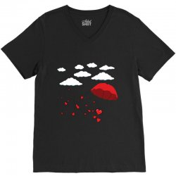 Heart Balon V-Neck Tee | Artistshot