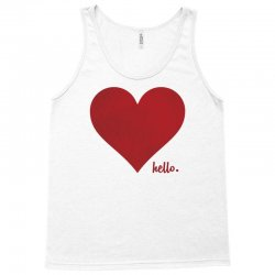 Hello Love Red Heart Tank Top | Artistshot