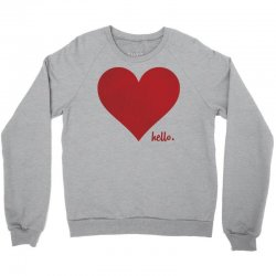 Hello Love Red Heart Crewneck Sweatshirt | Artistshot