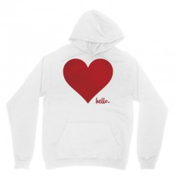 Hello Love Red Heart Unisex Hoodie | Artistshot