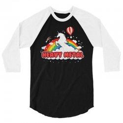 Heavy Metal Unicorn Rainbow 3/4 Sleeve Shirt | Artistshot