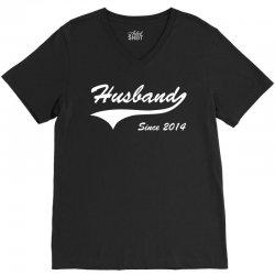 Husband Since 2014 V-Neck Tee | Artistshot