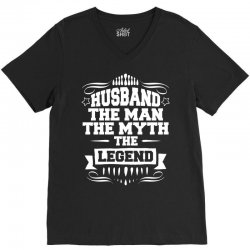 Husband The Man The Myth The Legend V-Neck Tee   Artistshot