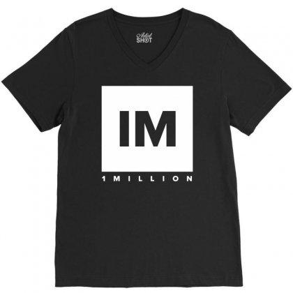 1 Million Dance Studio V-neck Tee Designed By Mdk Art