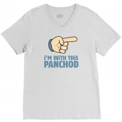 I Am With This Punchod V-Neck Tee   Artistshot
