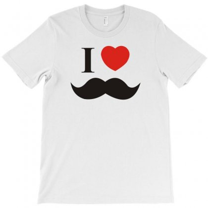 I Love Mustache T-shirt Designed By Yoseptees