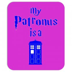 my patronus is a tardis Mousepad | Artistshot