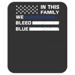in this family we bleed blue funny Mousepad | Artistshot
