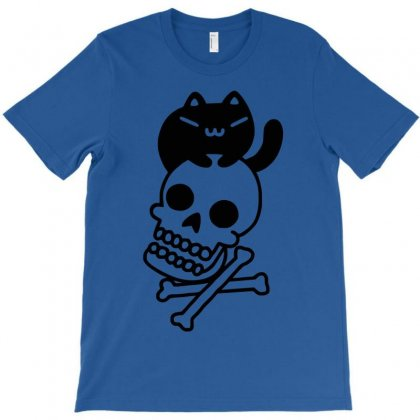 Cat And Crossbones T-shirt Designed By Yoseptees