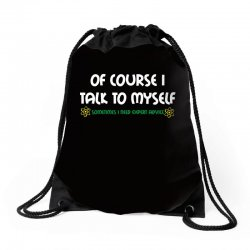 geek expert advice   science   physics   nerd t shirt Drawstring Bags | Artistshot
