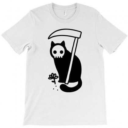 Grim Kitty T-shirt Designed By Yoseptees