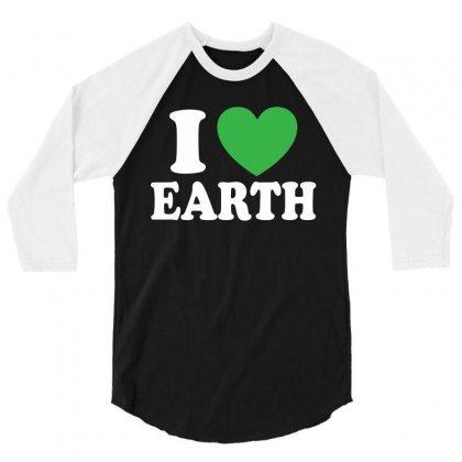 I Love You (heart) 3/4 Sleeve Shirt Designed By Tshiart