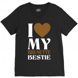 I Love My Blonde Bestie - I Love My Brunette Best V-Neck Tee   Artistshot