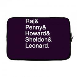 big theory list Laptop sleeve | Artistshot
