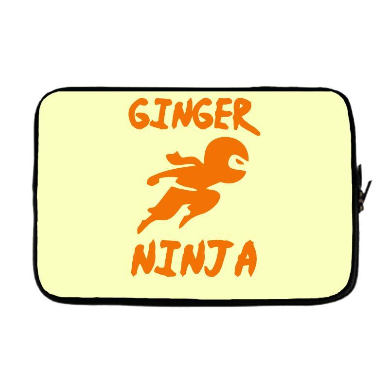 679c377f Custom Ginger Ninja Funny Laptop Sleeve By Mdk Art - Artistshot