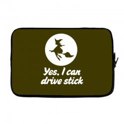 yes, i can drive stick Laptop sleeve   Artistshot
