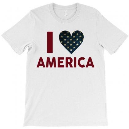 I Love America T-shirt Designed By Tshiart