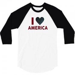 I Love America 3/4 Sleeve Shirt | Artistshot