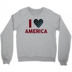 I Love America Crewneck Sweatshirt | Artistshot