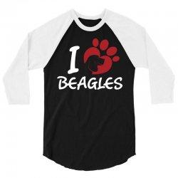 I love Beagles 3/4 Sleeve Shirt | Artistshot