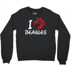 I love Beagles Crewneck Sweatshirt | Artistshot
