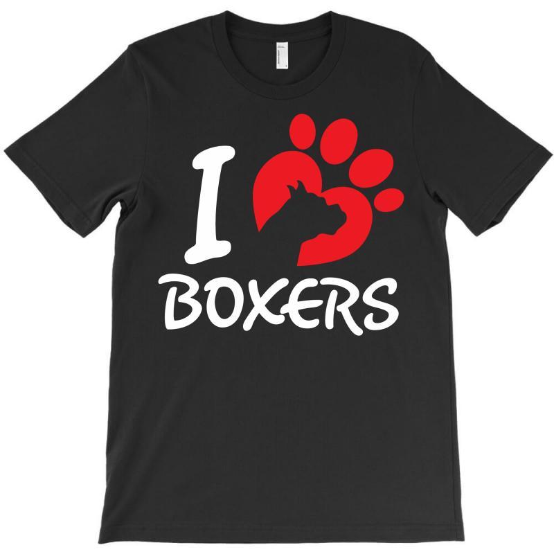 I Love Boxers T-shirt   Artistshot