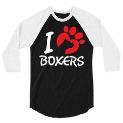 I Love Boxers 3/4 Sleeve Shirt   Artistshot