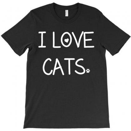 I Love Cats T-shirt Designed By Tshiart