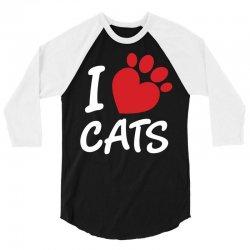 I Love Cats 3/4 Sleeve Shirt | Artistshot