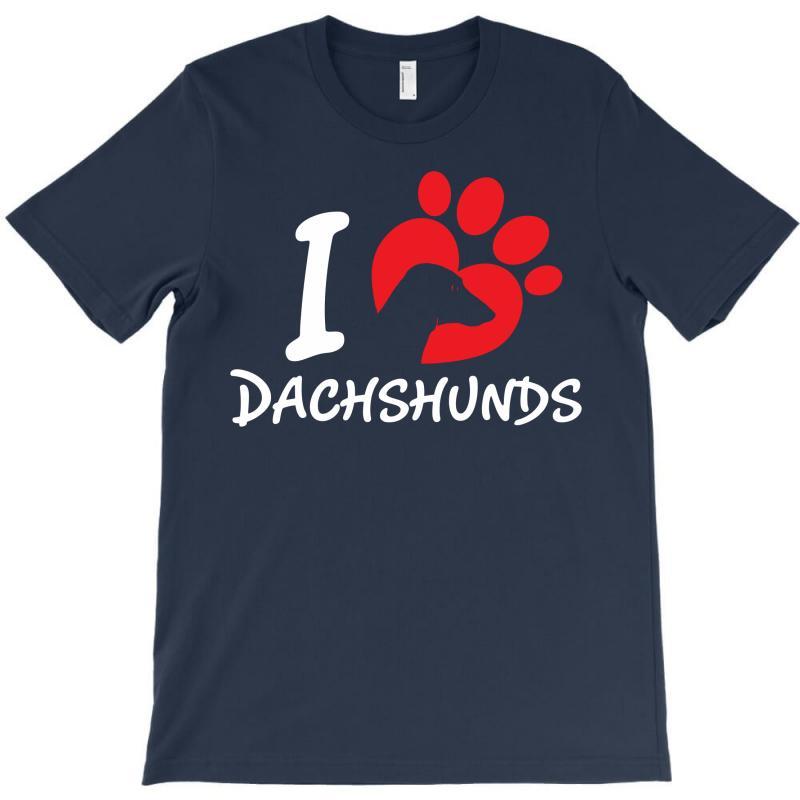 I Love Dachshunds T-shirt   Artistshot