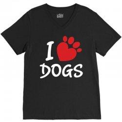 I Love Dogs V-Neck Tee | Artistshot