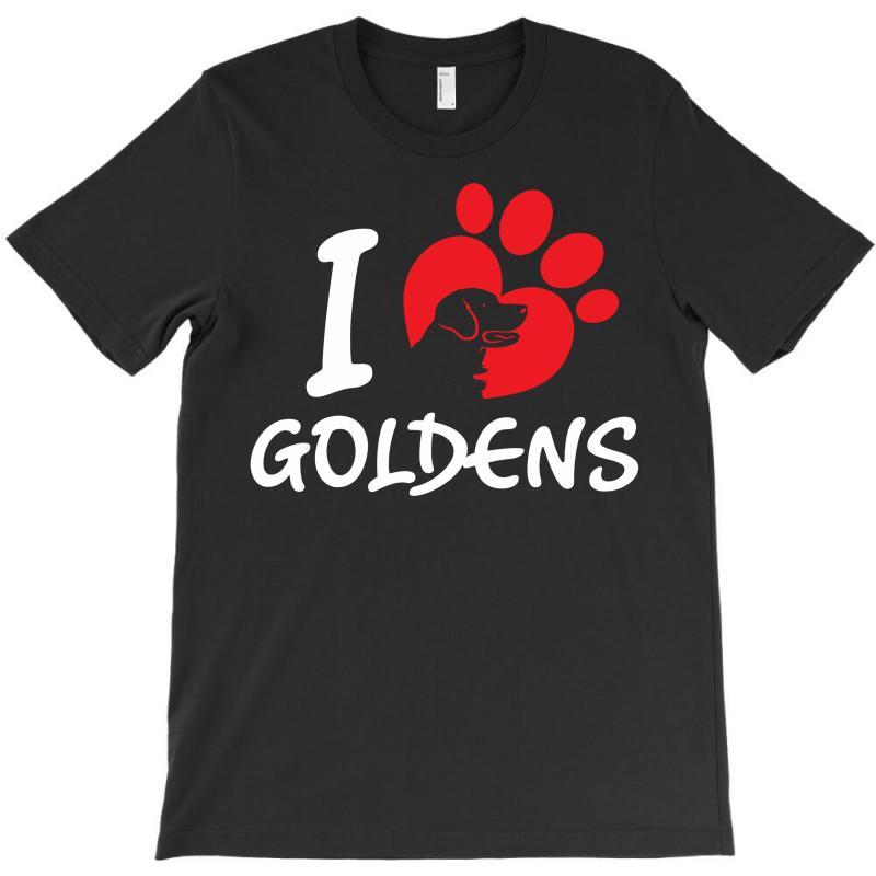 I Love Goldens T-shirt | Artistshot