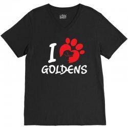 I Love Goldens V-Neck Tee | Artistshot